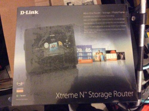 "D-Link DIR-685 Xtreme N Storage Gigabit Router 3.2"" LCD 802....NEW & SEALED"