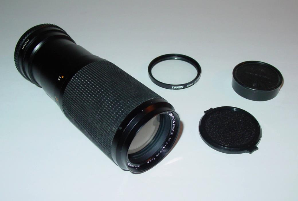 MINOLTA MD ZOOM CELTIC 100-200mm F5.6 LENS - Sony Canon UV Protector