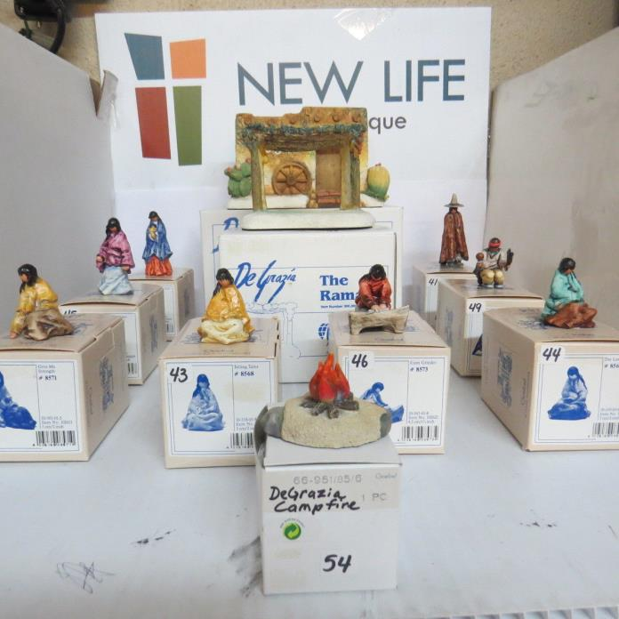 Discontinued De Grazia Village Lot of 11 Figurines NIB
