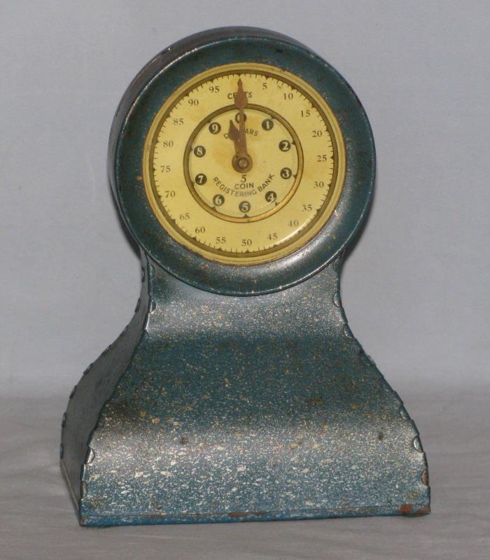 Kingsbury 5 Coin Metal Bank With Deposit Meter