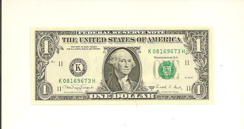 1988A ..UNCIRC $1 K 0816 9673 H .... NICE LOOKING NOTE  ...... FRN