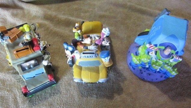 Disney 3 Piggy Banks Mickey Mouse Fab 5 Taxi/ Buzz light year/ Safari Jungle