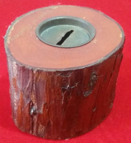 Vintage 1950's Hollowed Tree Branch Bank