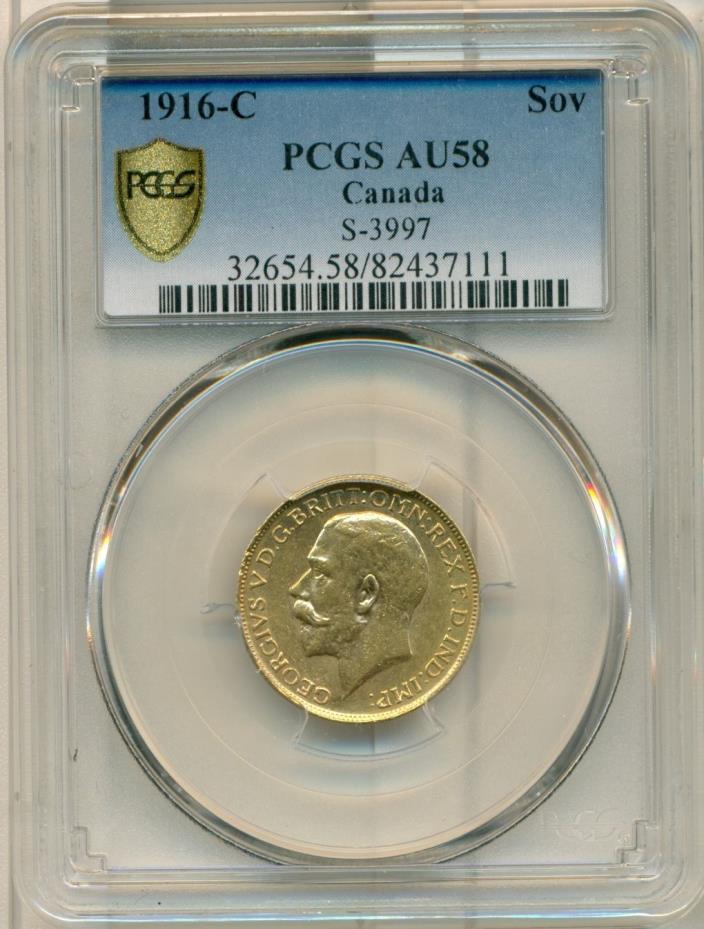 1916-C Sovereign PCGS AU58