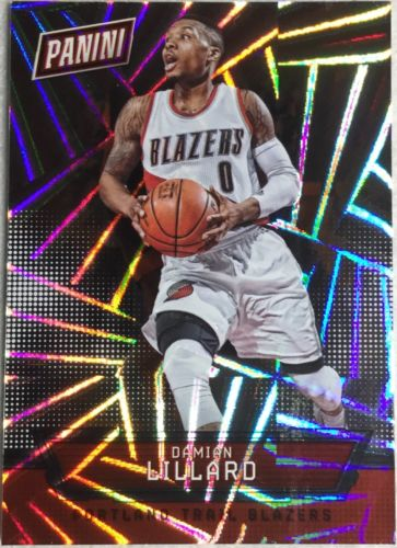 Damian Lillard 22/99 2016 Panini National Silver Pack Hyper Foil #17 Thick