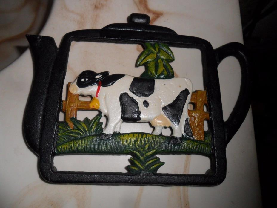 teapot cow trivet about 6x8