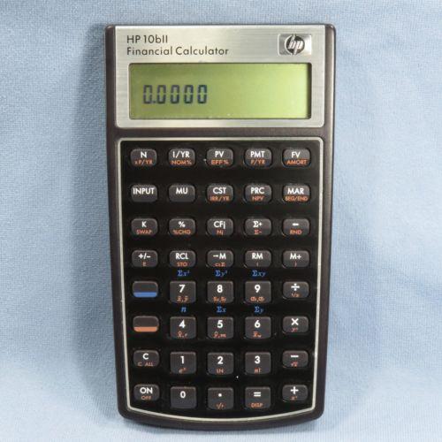 Hewlett Packard HP 10BII Financial Calculator
