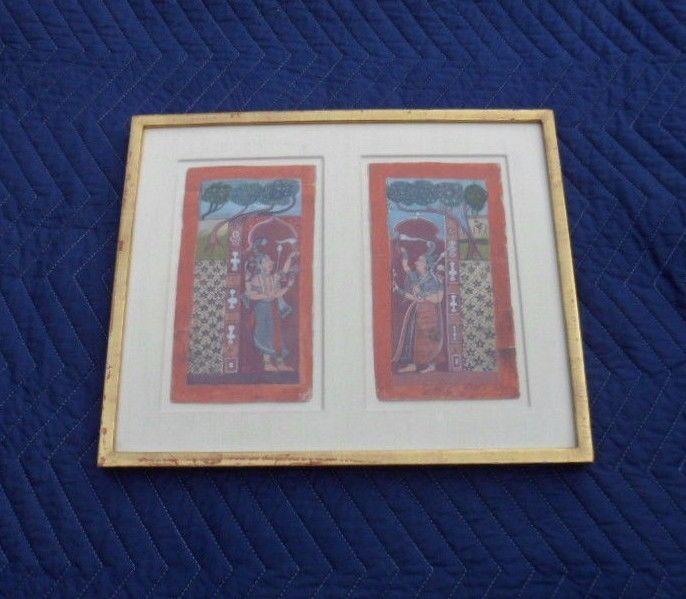 17 Century, Antique Mughal Minature  Paintings; 5