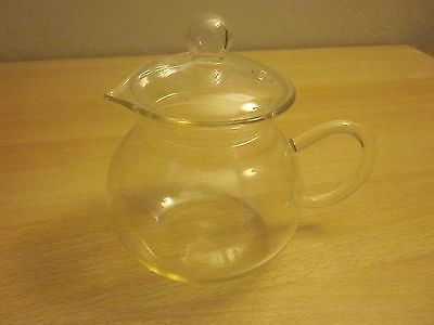 Clear Tiny Glass Teapot with Lid
