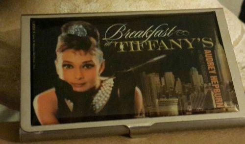 Breakfast at Tiffany's small laminated Metal Box Audrey Hepburn