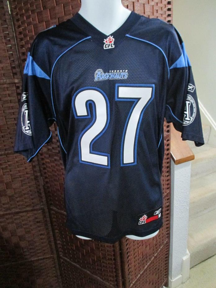 Rare Toronto Argonauts Ricky Williams Jersey SEWN Mens M Argos Dolphins CFL NFL