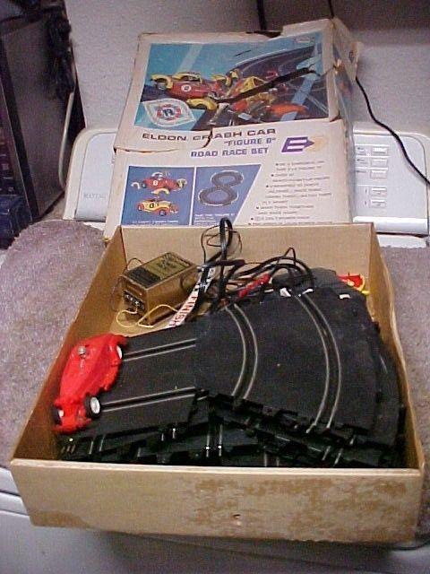 Eldon Crash Car Figure 8 Road Race Set with Box