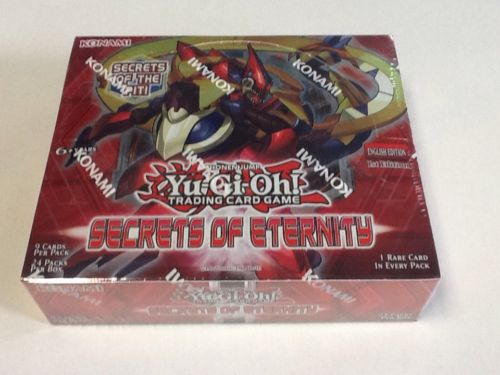 YuGiOh Secrets of Eternity 1st Edition English Sealed 24ct Booster Box Free Ship