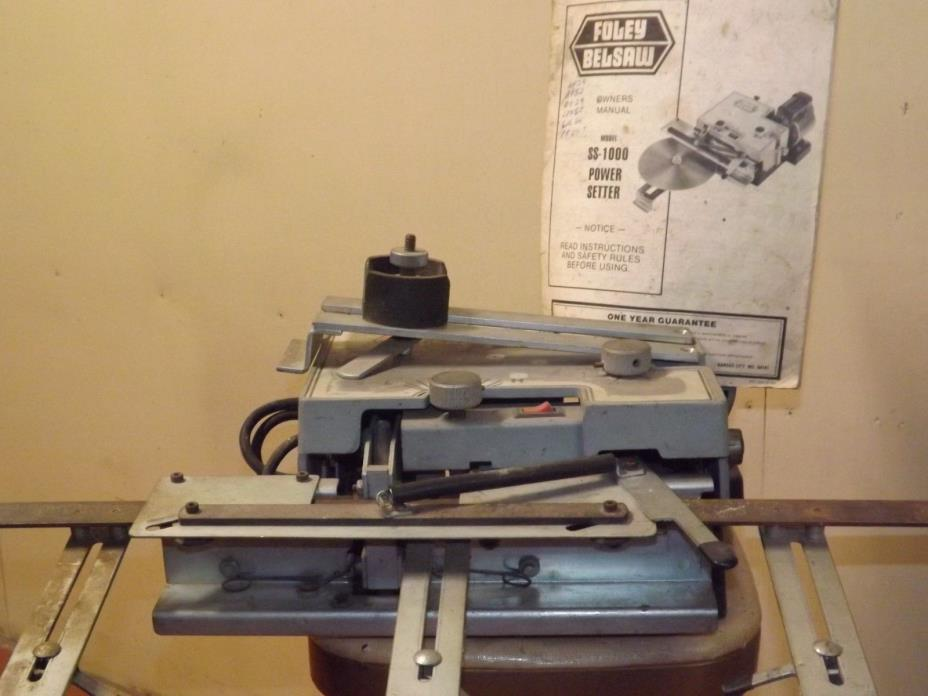 Foley Belsaw SS-1000 Power Setter for Handsaws, Circle Saws, 1/10 HP Motor