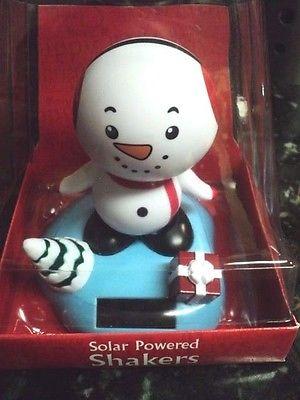 Solar Powered Dancing Snowman + FREE Gift!! NIP