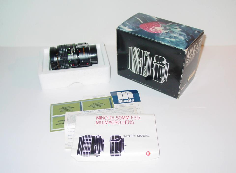 MINOLTA MD MACRO ROKKOR-X 50MM F3.5 LENS / Fits Minolta Manual Focus Camera 35mm