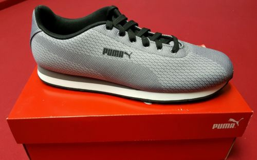 Puma Turin Woven Print limestone-steel gray-black Men's size 10.5