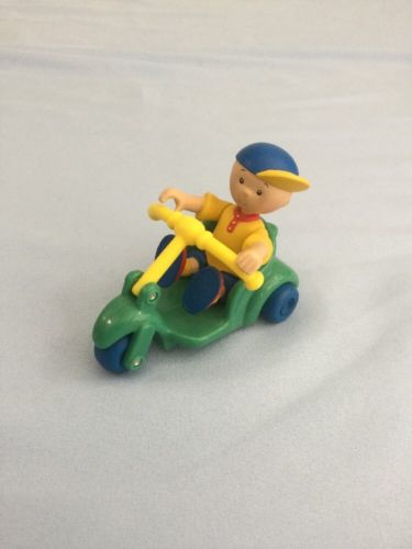 Caillou Posable PVC Figure & Tricycle Bike Cake Topper