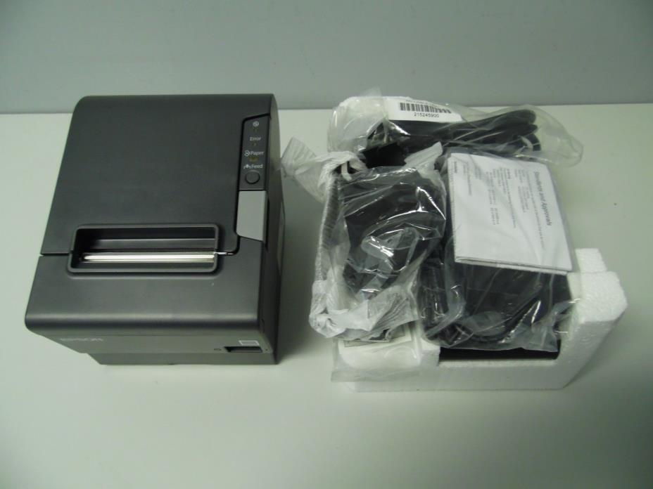New Epson TM-T88V Serial/USB, Autocutter, Receipt Printer With Power Supplyy M24