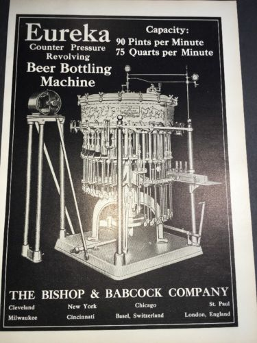 Eureka Bottling Bishop Babcock Brewing Equipment Advertising 1907 Cleveland beer
