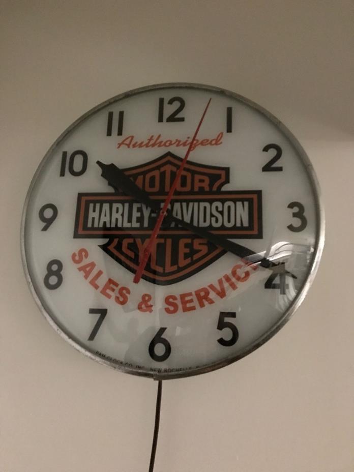 Vintage Harley Davidson Pam Clock