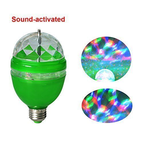 E27 3W Colorful Auto Rotating RGB LED Bulb Stage Light Party Disco Club Lamp