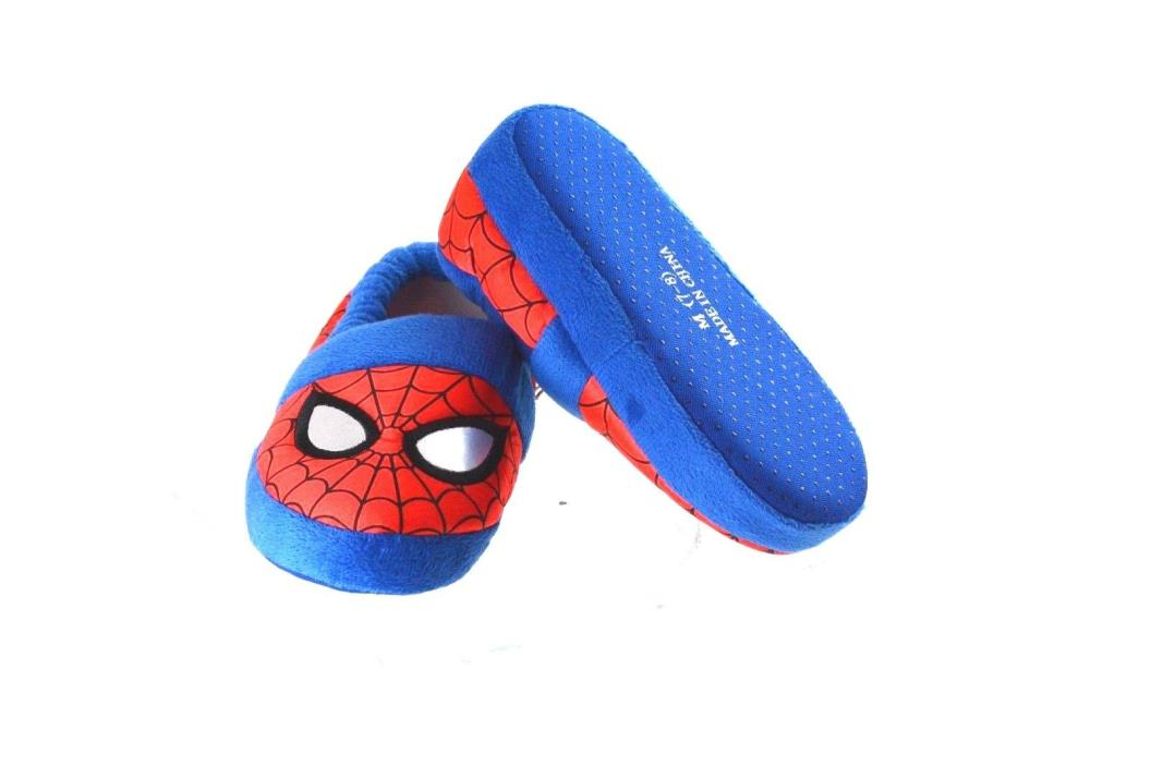 Marvel Ultimate Spiderman Toddler Boy Size M 7-8 Slippers