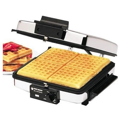 3-in-1 Waffle Maker Indoor Kitchen Grill Griddle , Silver
