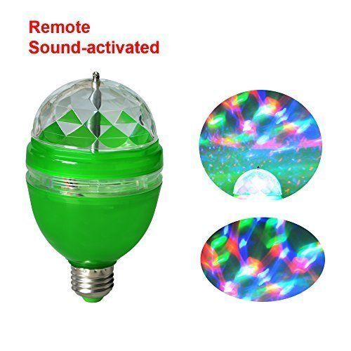 Full Color LED RGB Rotating Lamp with Remote Sound activated Stage DJ Light Bulb