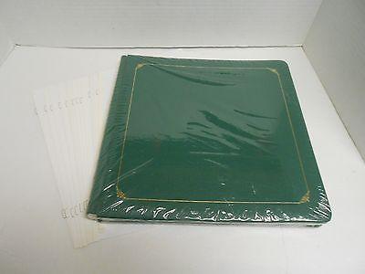 Creative Memories 12 x 12 Album Green Sealed 15 Sheets/30 Pages +10 Bonus Sheets