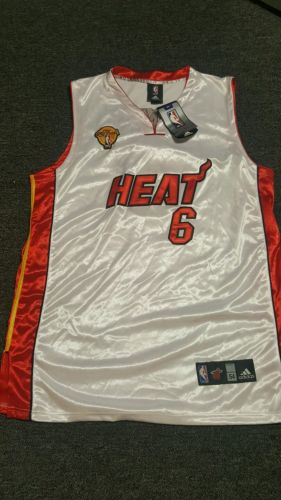 LeBron James #6 Miami Heat Stiched NBA Finals Jersey Size XL 54