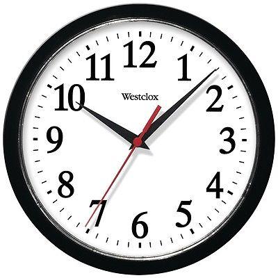 WESTCLOX 461861 10 Basic Wall Clock (Black)