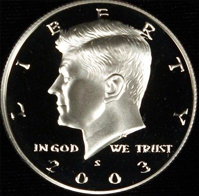 2003 S CLAD PROOF DCAM KENNEDY HALF DOLLAR ROLL (20)