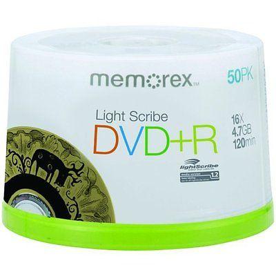 Memorex LightScribe DVD+R 16x 4.7GB - 50 Pack