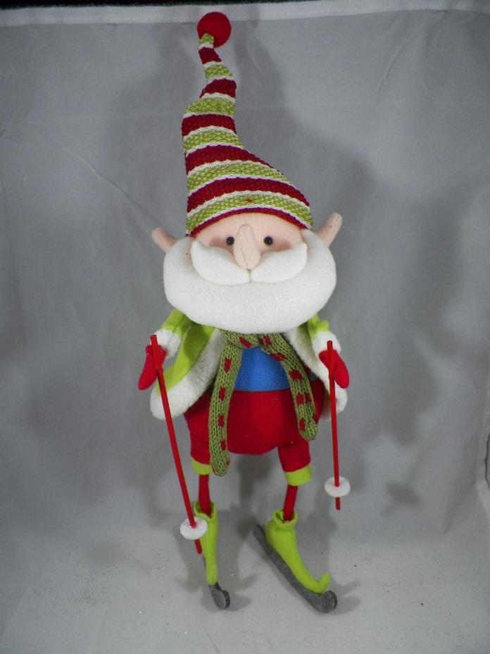 Elf in Santa Suit Skiing Christmas Tree Ornament new holiday
