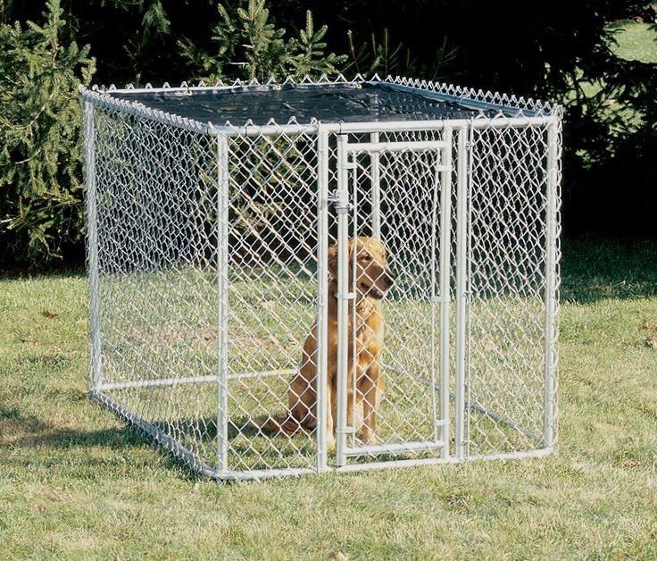 Large Chain Link Dog Kennel in Great Shape and Easy to Setup
