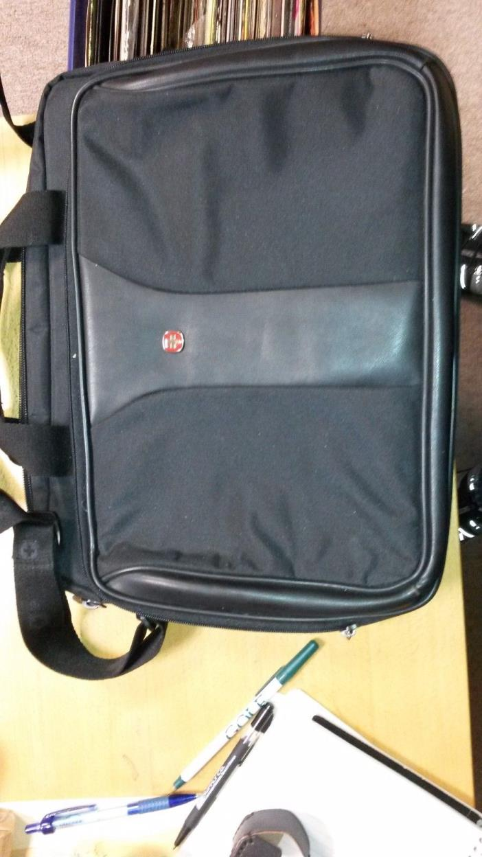 WENGER BLACK SWISS ARMY BAG LAPTOP BRIEFCASE MESSENGER BAG 15