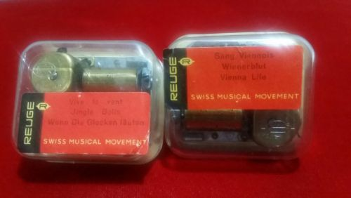 2 REUGE Swiss Musical Movement