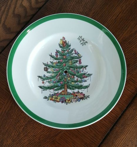 Spode Christmas Tree Replacement Plate for 2 Tier Serving Tray w/Center Handle