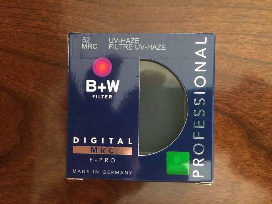 Genuine B+W 52mm F-PRO MRC 010M UV-Haze Filter 70209