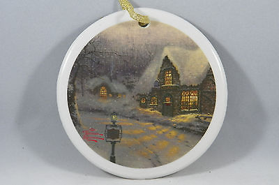 Come with Me Down the Lane Thomas Kinkade House Christmas Tree Ornament new