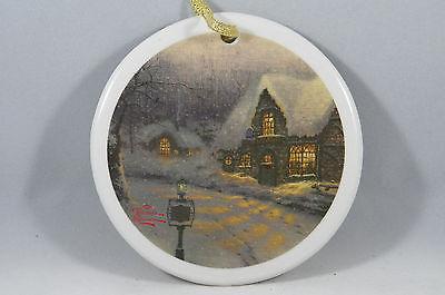 Come with Me Down the Lane Thomas Kinkade House Christmas Tree Ornament new