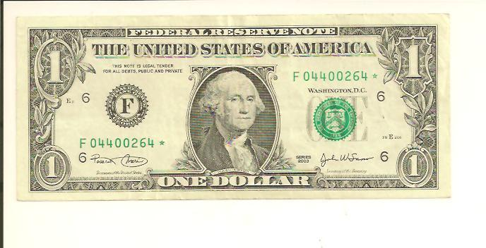 2003* ..FRN  $1  STAR NOTE  F 0440 0264 * ..... STAR NOTE