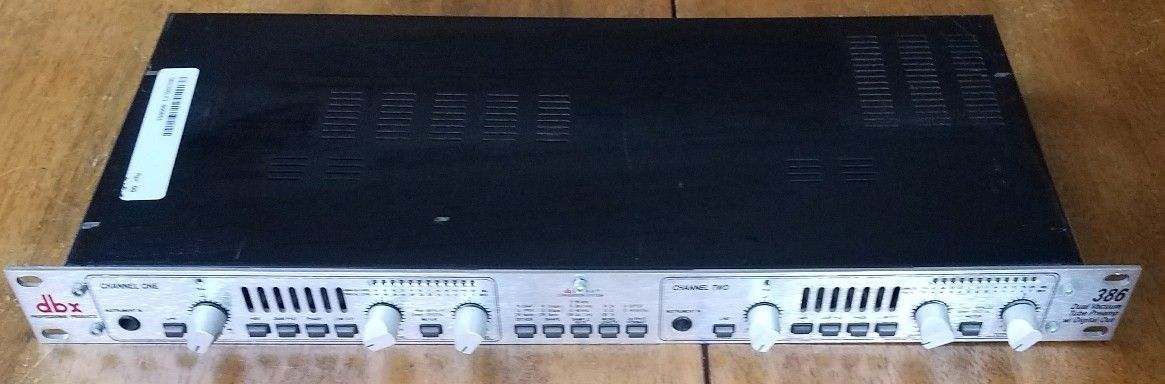 DBX 386 Dual Vacuum Tube Preamp With Digital Out