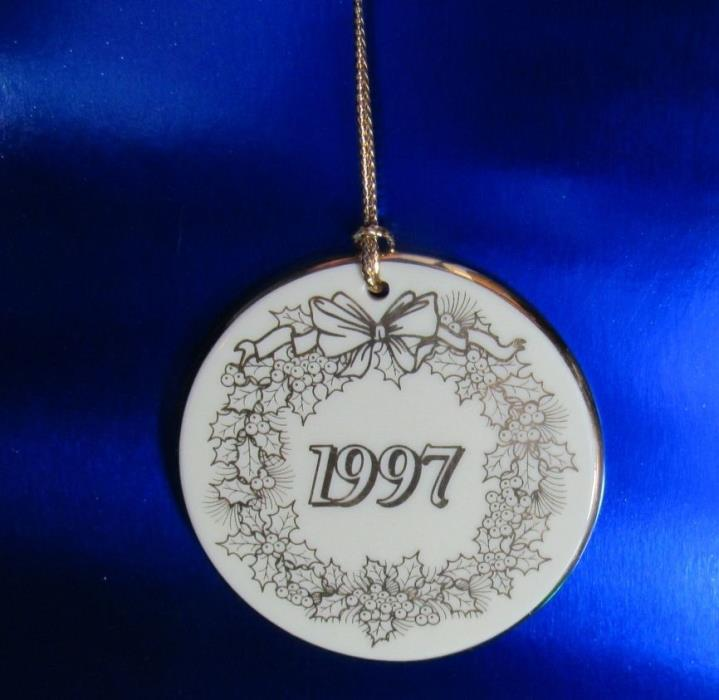 LENOX 1997 Annual EXCLUSIVE PARALYZED VETERANS PVA Disc ORNAMENT ~ RARE ~ (1ZBA)