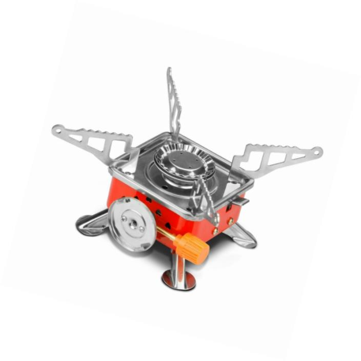 Leeko Camping Stove,Collapsible Portable Outdoor Camping Gear, Gas Camping Stove