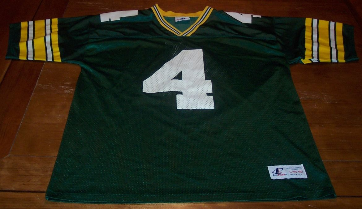 GREEN BAY PACKERS #4 BRETT FAVRE NFL FOOTBALL JERSEY LARGE 46-48