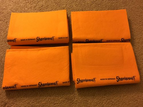 New - Lot Of 4 Large ShamWow Shammys Absorbing Towels 23