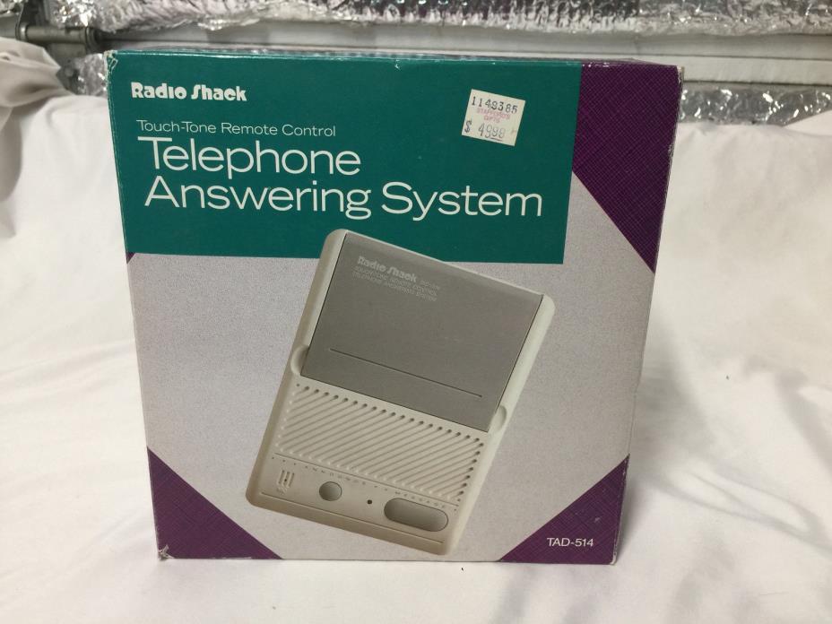 Vintage Radio Shack TAD 514 Telephone Answering Machine System Microcassette