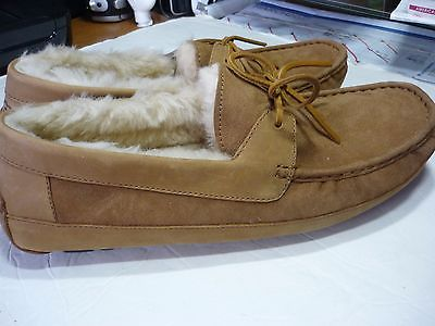 UGG BYRON  MENS MOCCASIN SLIPPER/SHOE SIZE 14 CHESTNUT  #5102 100% AUTHENTIC NEW